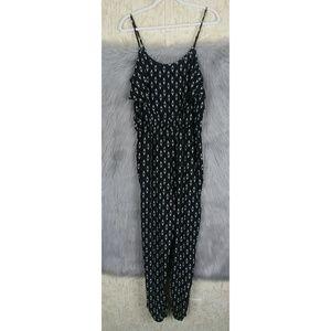 Xhilaration XL Black & White Ruffle Jump Suit